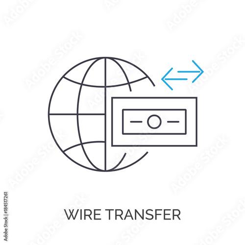 wire transfer icon\