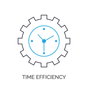 Time efficiency icon