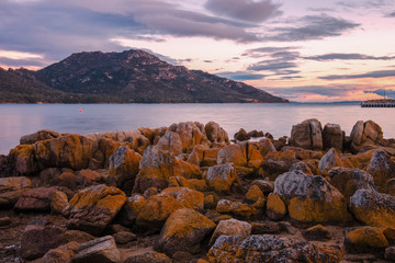 Coles Bay in Freycinet National Park, Tasmania