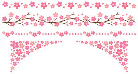 桜の飾り線