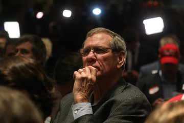 Man watches the results come in at Republican U.S. Senate candidate Moore's election night party in Montgomery, Alabama