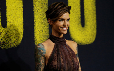 "Cast member Rose poses at the premiere for ""Pitch Perfect 3"" in Los Angeles"
