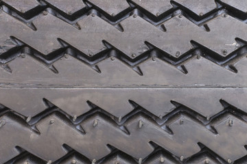 close up of tyre texture background.