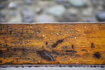 Timber wood wet rain at outdoor
