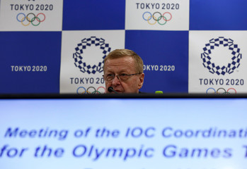 International Olympic Committee (IOC) Vice President John Coates attends a news conference in Tokyo