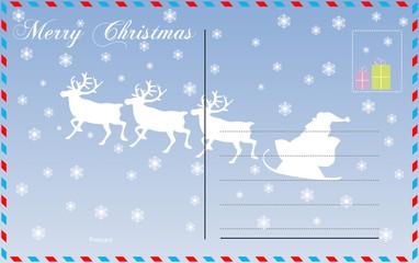 Travel postcard vector merry christmas