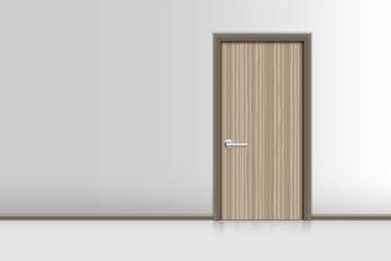 Realistic single door and interiors decorative., Indoor concept