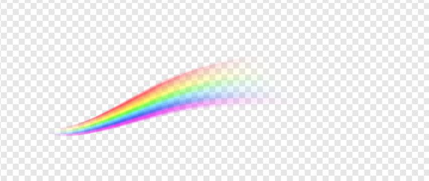 Rainbow line illustration isolated on transparent background