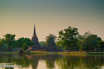 Pagoda of ancient temple at Sukhothai Historical Park