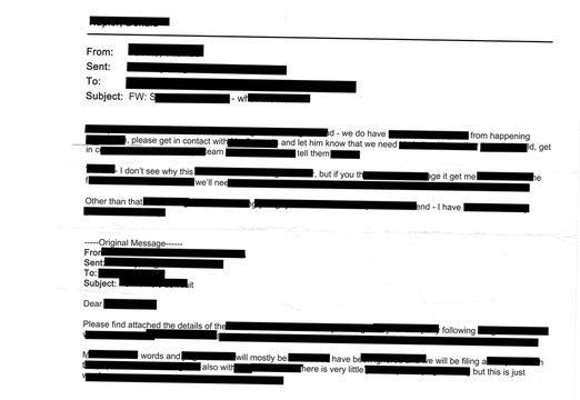 Redacted email graphic resource