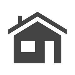House Icon in trendy flat style isolated on grey background. Homepage symbol for your web site design, logo, app, UI. Vector illustration simple, EPS10. Simplified flatten icon.