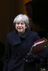 Britain's Prime Minister Theresa May leaves 10 Downing Street in London