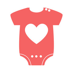 baby girl clothes, baby stuff icon vector