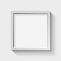 Realistic empty frame on light background, border for your creative project, vector design object
