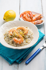 rice with shrimp and grated lemon
