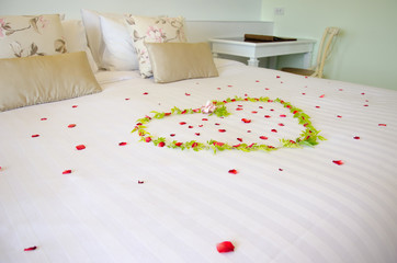 Rose on the bed