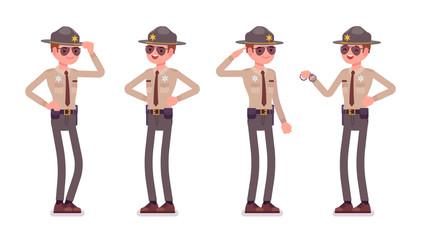 Male sheriff standing