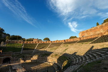 Greek Roman Theater in Taormina - Sicily Italy