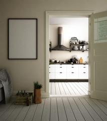 Eingang zur Küche in einer privaten Wohnung