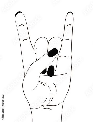 rock festival poster rock n roll hand gesture heavy metal sign