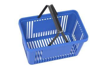 Realistic 3D Render of Shopping Basket