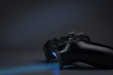 Blue light from the gamepad