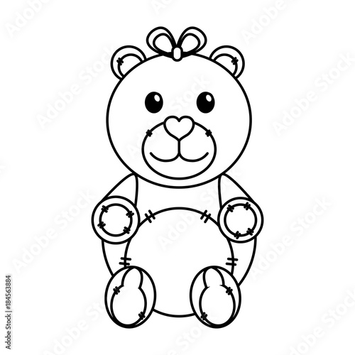 isolated teddy bear design stock image and royalty free vector Ursoc The Bear God isolated teddy bear design