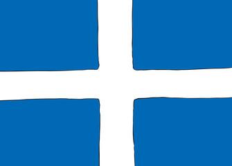 Nordic Cross Flag for the Shetland Islands