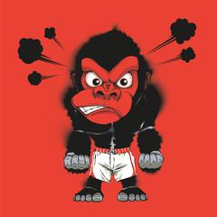 Angry gym gorilla