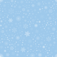 Christmas seamless pattern with snowflakes abstract background. Holiday design for Christmas and New Year fashion prints.