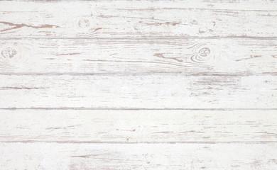 Photo sur Aluminium Bois Grunge background. White wooden texture. Peeling paint on an old wooden floor.