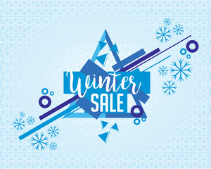 abstract winter sale banner & background