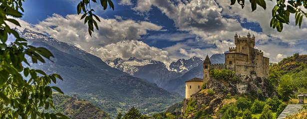Castello di Saint-Pierre, val d'Aosta Wall mural
