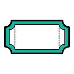 Isolated ticket design