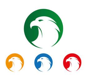 majestic brave mighty eagle simple vector logo design