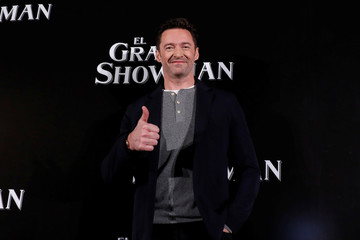 "Australian actor Hugh Jackman poses for photographers ahead of a premiere of his latest film, a musical directed by Michael Gracey called ""The Greatest Showman"", in Mexico City"