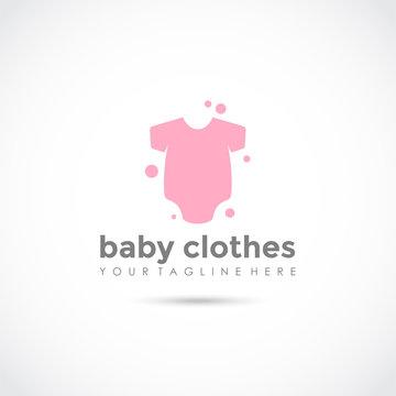 Baby Clothes Logo Design. Vector Illustrator Eps.10