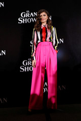 "American actor Zendaya poses for photographers ahead of a premiere of her latest film, a musical directed by Michael Gracey called ""The Greatest Showman"", in Mexico City"