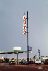 American petrol station