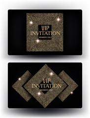 VIP gold cards. Vector illustration