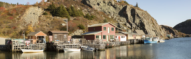 Houses in historic Quidi Vidi Village, St. Johns, Newfoundland, Canada