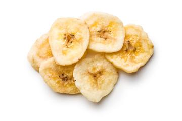 Dried banana chips.