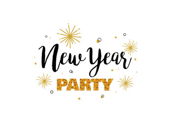 Wall Mural - new year party invitation template.