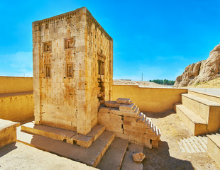 Panorama of Zoroaster building in Naqsh-e Rustam, Iran