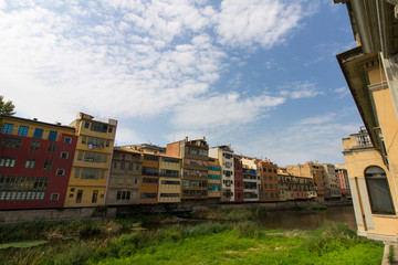 Girona cityscape, northern Spain - looking out over the Onyar river