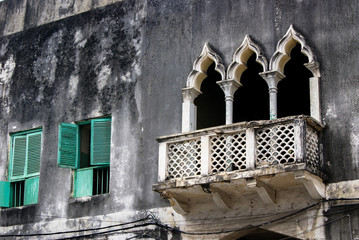 Traditional Oriental household architecture in Stone Town, Zanzibar, Tanzania