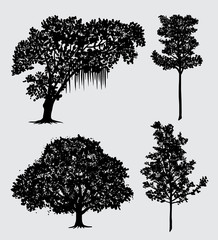 tree nature silhouette Good use for symbol, logo, web icon, mascot, sign, sticker, or any design you want