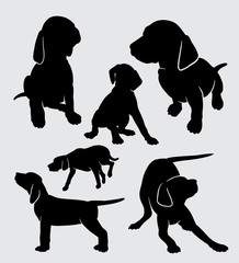 dog vizsla pet mammal animal silhouette good use for symbol, logo, web icon, mascot, sticker, sign, or any design you want.