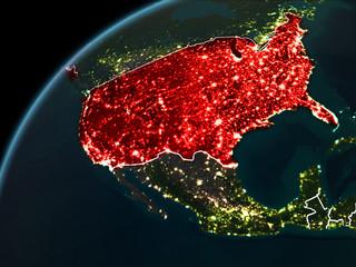 Night over USA