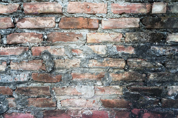The beautiful old brick wall for background
